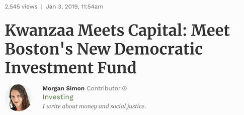 Read: Kwanzaa Meets Capital, Morgan Simon