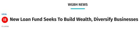 Listen: New Loan Fund Seeks to Build Wealth, Saraya Wintersmith