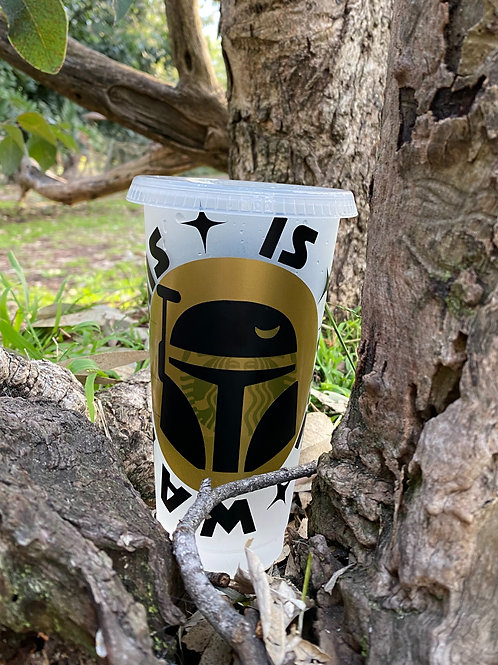 Mandalorian Inspired Starbucks Cold Cup