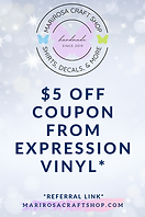 $5 off coupon from expression vinyl