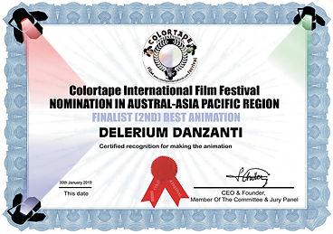 Delerium Danzanti 2nd Best Animation awa