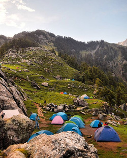 My town for a day ❤__#Triund #camping #t