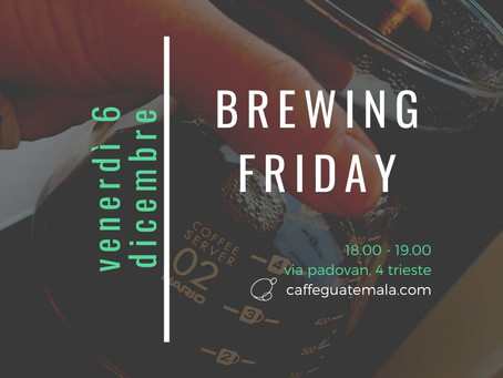 BREAKING NEWS - BREWING FRIDAY!