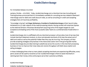 Guide2Interchange Press Release