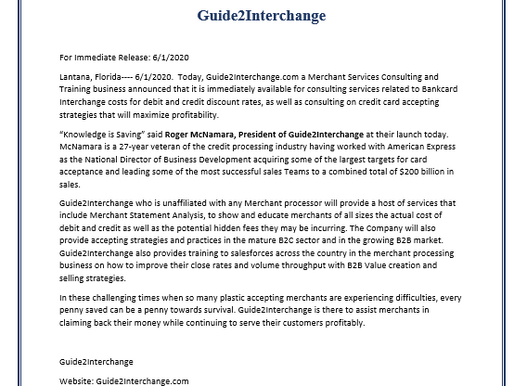 Guide2Interchange Press Release