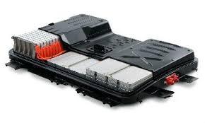 Componentes de la batería de Ion Litio en un Nissan Leaf