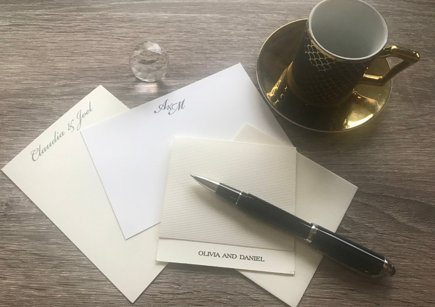 A range of thank you and home address cards