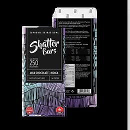 Shatter Bar Milk Chocolate 250mg