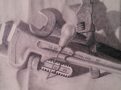 """""""Gathering of Tools""""   18x24"""