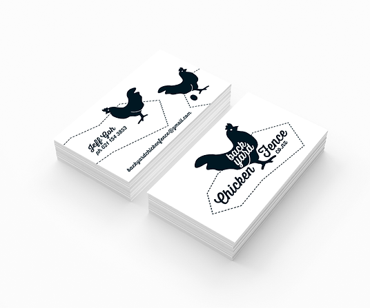 Freelance Graphic Designer NZ – Business Cards Backyard Chicken Fence