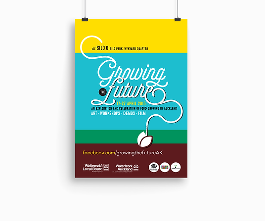 Freelance Graphic Designer NZ – Poster Brochure Growing the Future