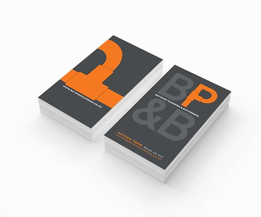 Freelance Graphic Designer NZ – Business Card Baywide Plumbing & Bathrooms