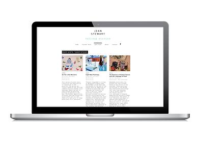 Freelance Graphic Designer NZ – Website Jean Stewart NZ Artist