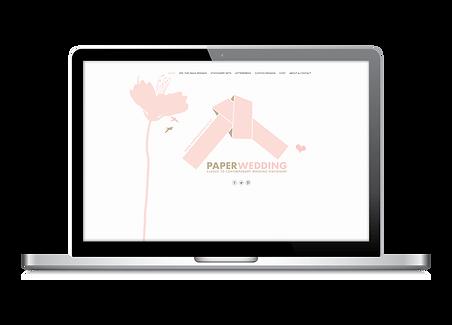 Freelance Graphic Designer NZ – Website Paper Wedding