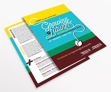 Freelance Graphic Designer NZ – Postcards Brochure Growing the Future