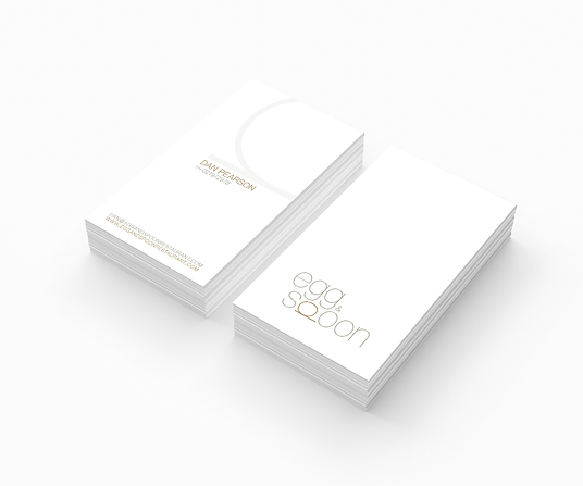Freelance Graphic Designer NZ – Business Card Egg & Spoon