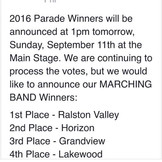 Congratulations HHS Marching Hawks!
