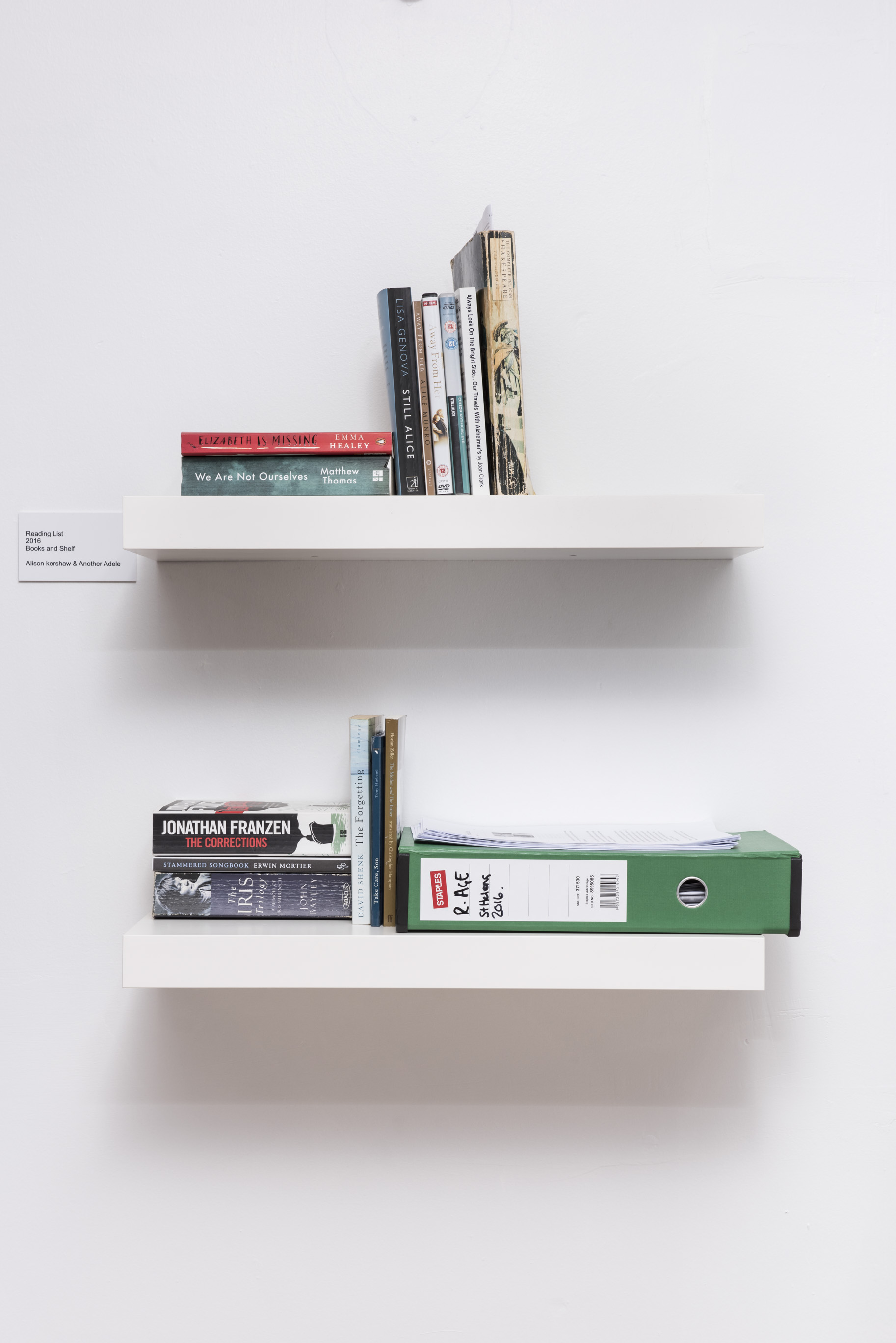 book shelf installation