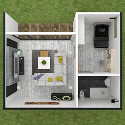 solar cabin cork