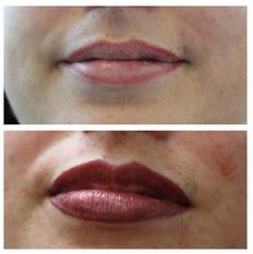 lipliner and full lip blush