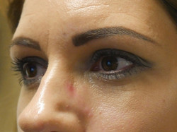 powdered brow