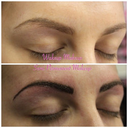Dense hairline brows