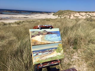 en plein air day on the isle of Coll