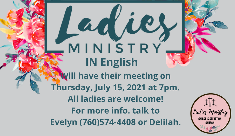 LADIES MINISTRY IN ENGLISH