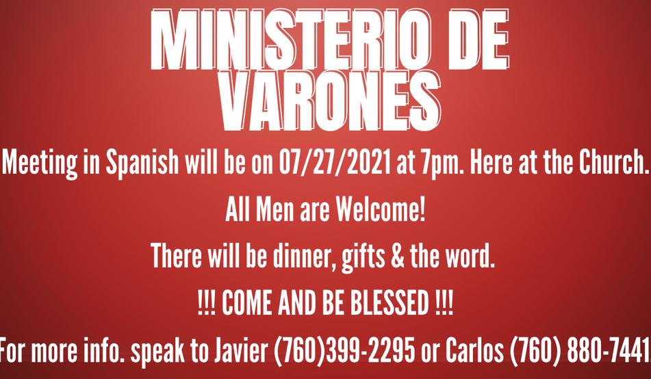 MEN'S MINISTRY IN SPANISH