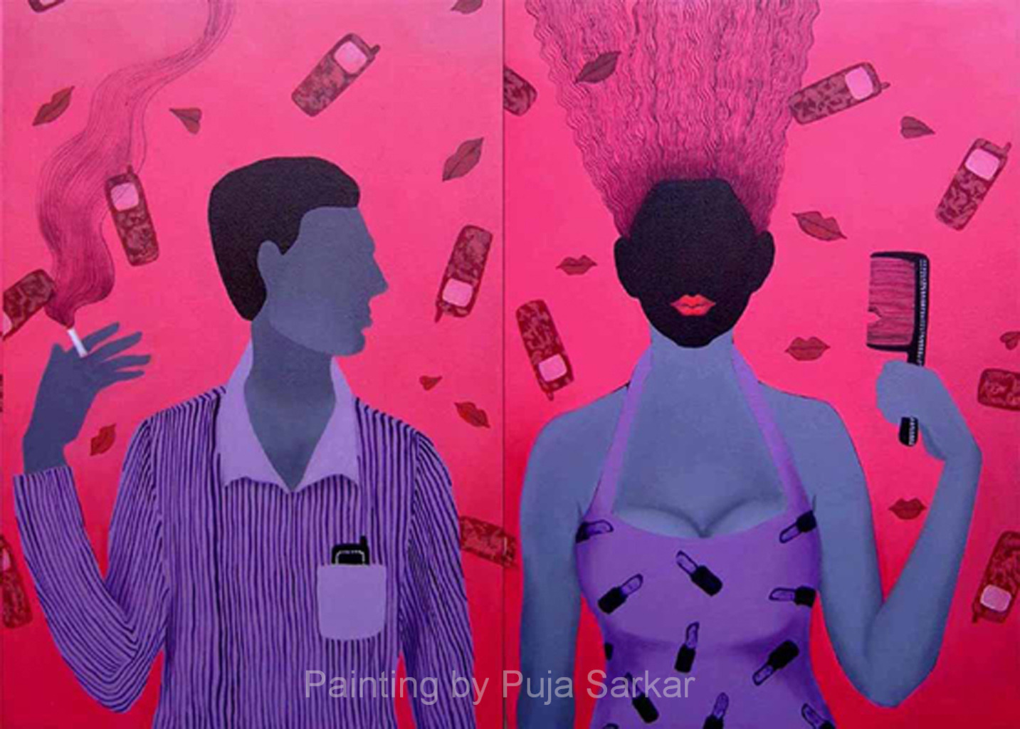 He And She   (Size - 36X48 Inches)Acrylic on Canvas