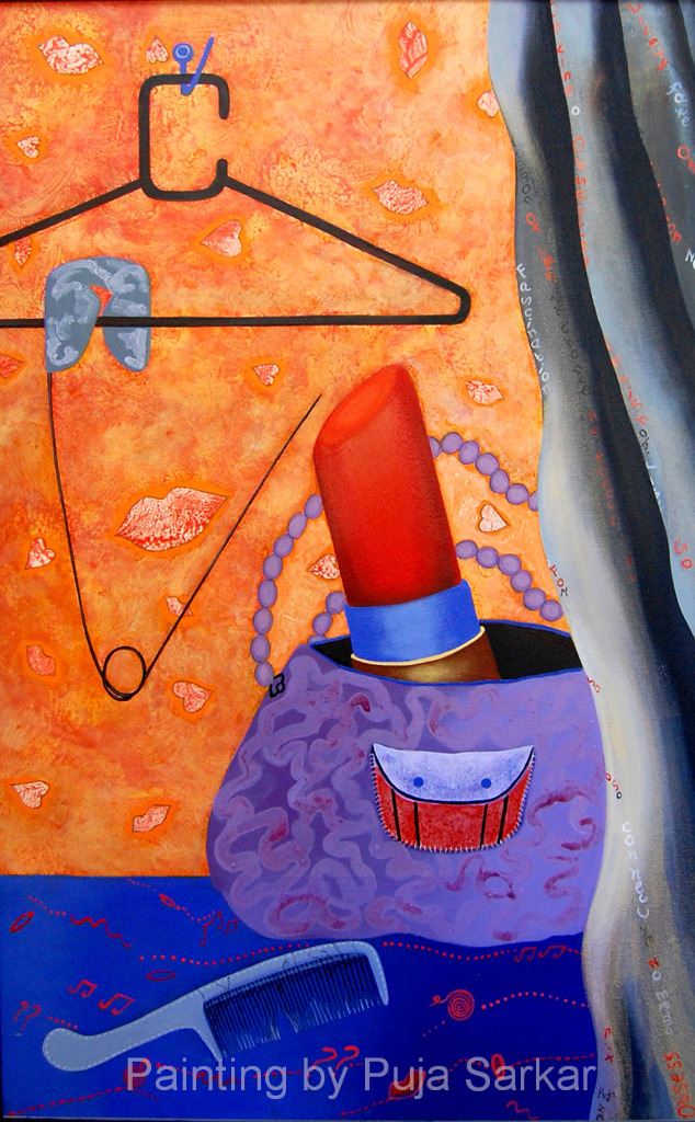 Obsession (Size - 48X30 Inches)Acrylic on Canvas