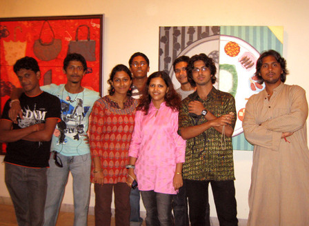 """1st Show of """"SMS"""" Group at Birla Academy of Art & Culture, from 8th Aug - 9th Aug, 2009."""