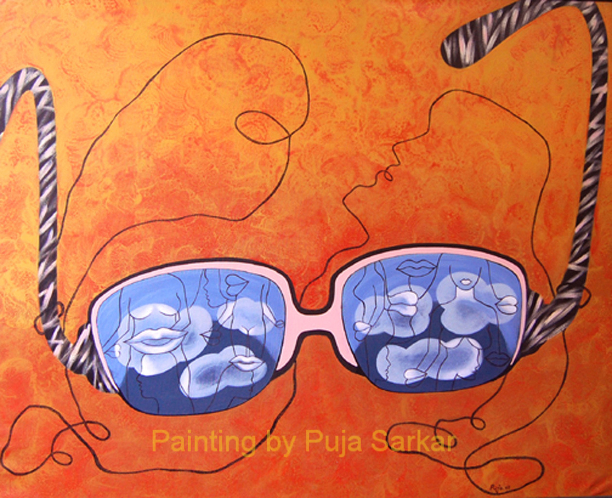 Dreamy Eyes  (Size - 36X42 Inches )Acrylic on Canvas