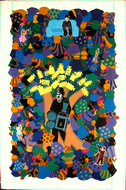 CHAPLIN LIVES AT MIND(Size - 30X36 Inches)Acrylic on Canvas(Year - 2011)