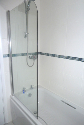 New bath and screen with all new tiles