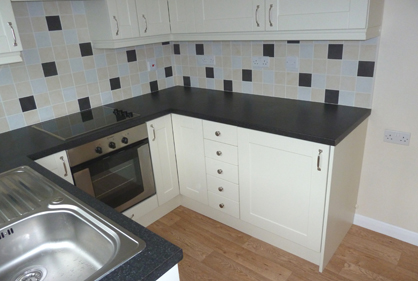 Kitchen tiling and refit