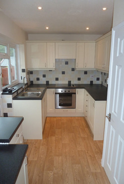 New kitchen fitted with tiling