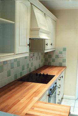 Kitchen tiling and refurbished