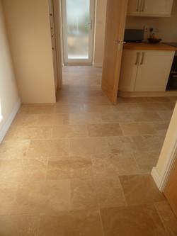 New floor tiling