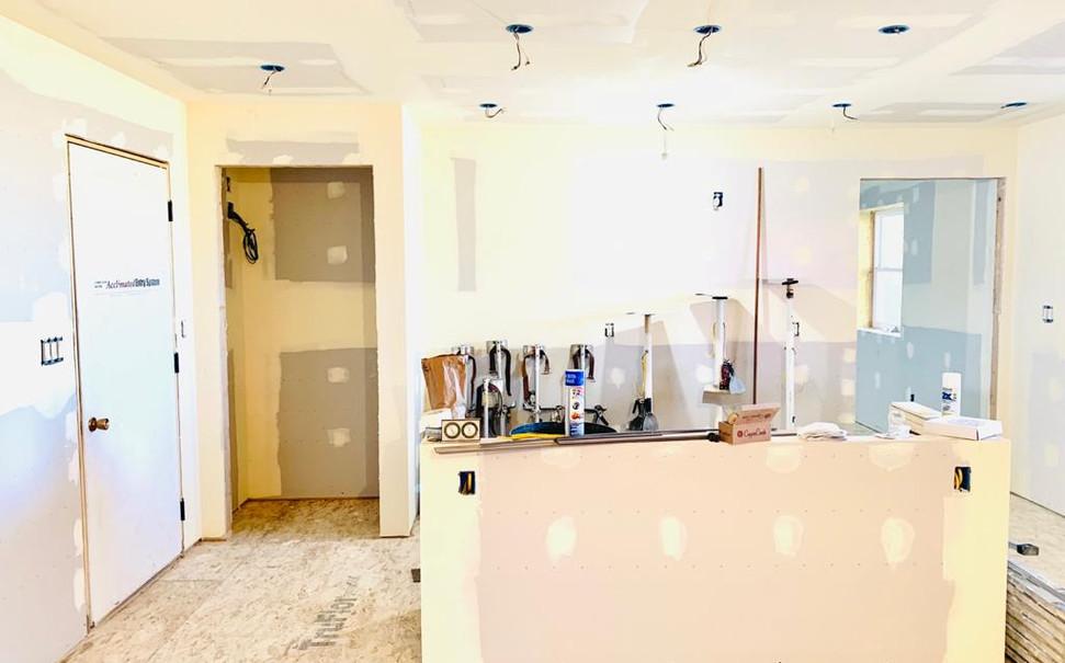 kitchen with pantry and interior door