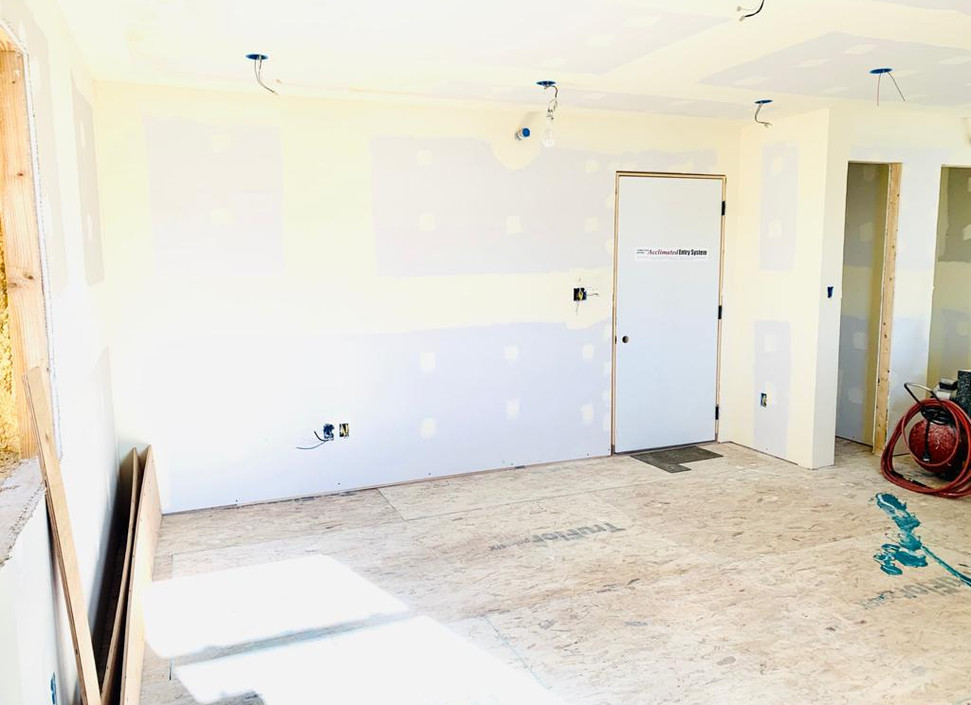 living room with interior entrance