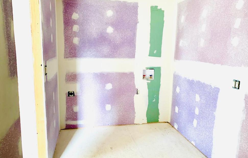 Master Bathroom washer-dryer hookup
