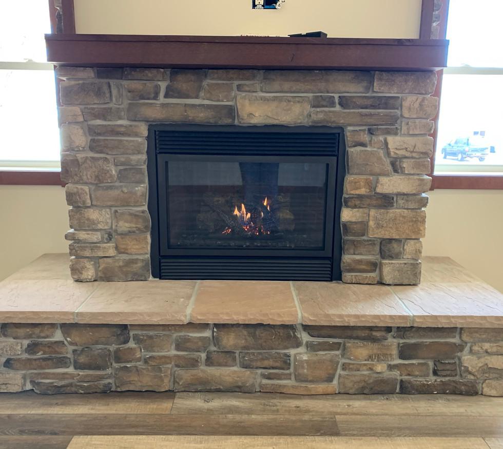 Fireplace close-up