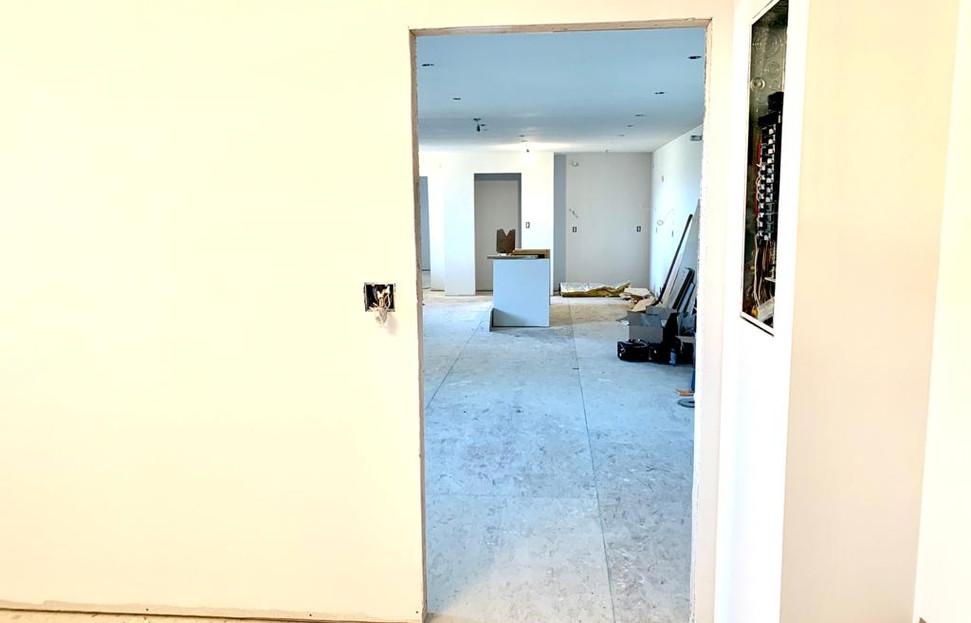 bedroom looking towards living area