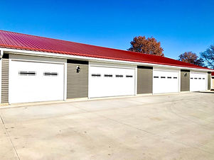 Each unit purchases a garage - first come, first served!  Price varies depending on stalls/sq ft.