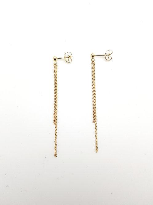 Double chaine pendante