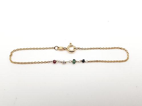 Bracelet 4 pierres précieuses