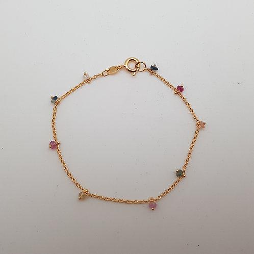 Bracelet avec saphirs multicolores
