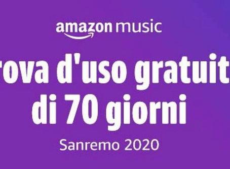 70 Giorni Gratis di Musica Gratis con Amazon Music Unlimited