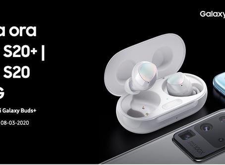 Vuoi ricevere gratis le Galaxy Buds+ Preordina Samsung S20+
